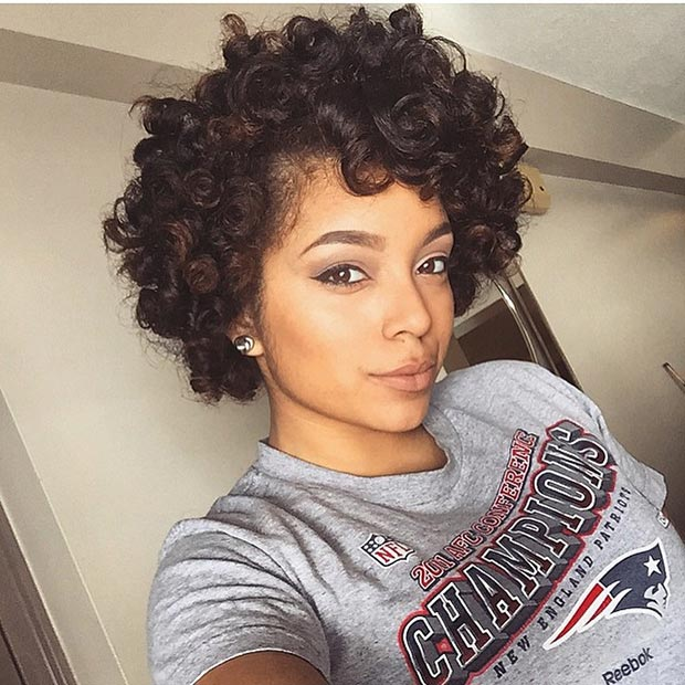 1. Short, Bouncy Curls Hairstyle