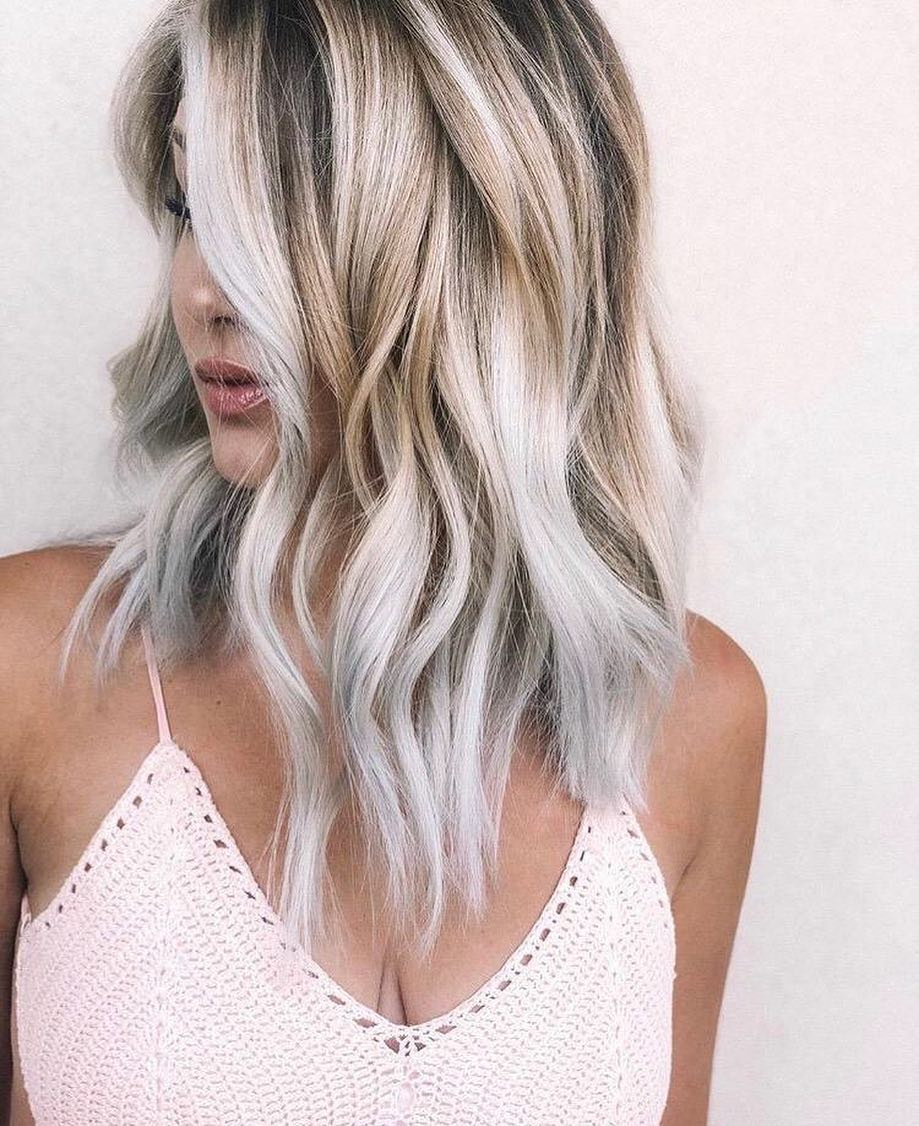 1. Silver & Gold Dual-blonde To Long Hairstyles