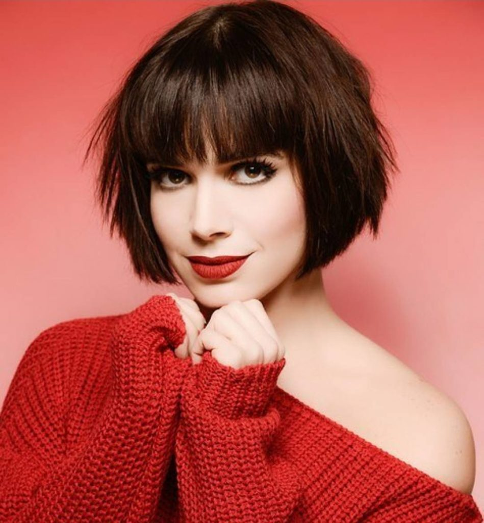 10. short bob haircut for long faces