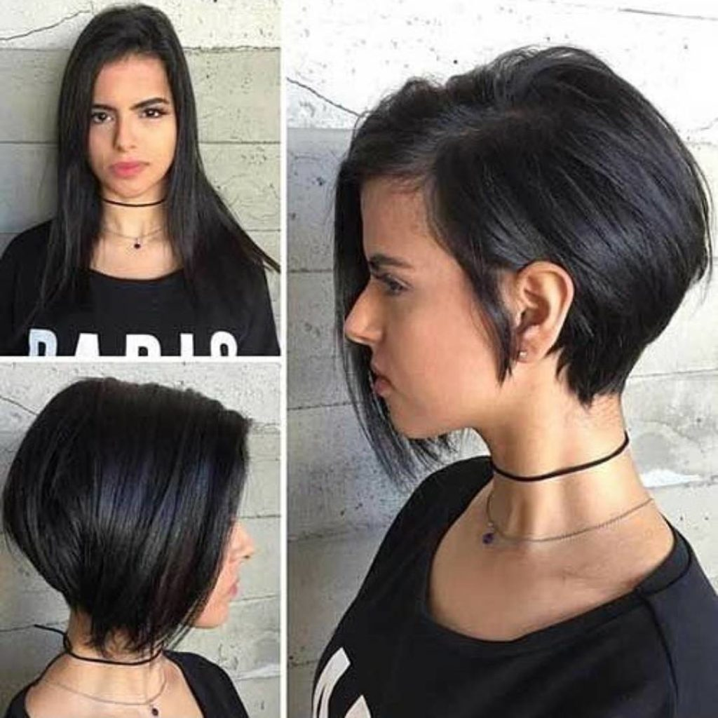 Chic short bob haircut for thick hair