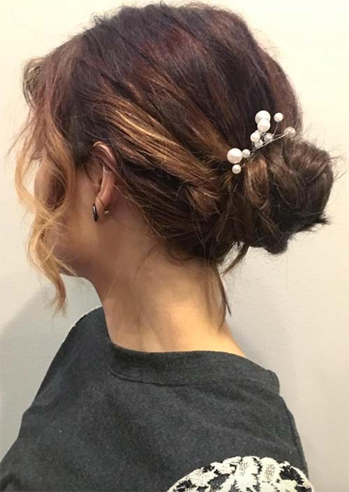 11. Curly Short Hair Pulled Back