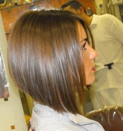 13. Cute inverted bob cut for girls