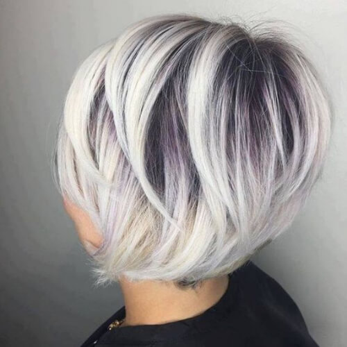 13. White Stacked Bob