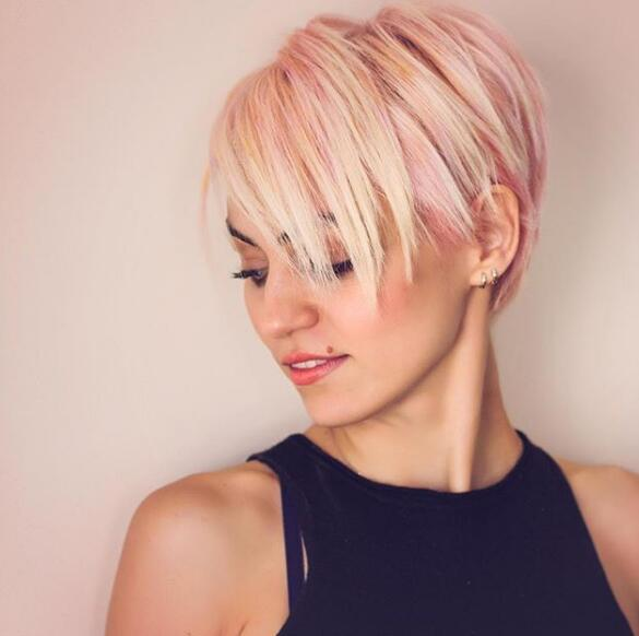19. Yellow Pink Mixed Hairstyle