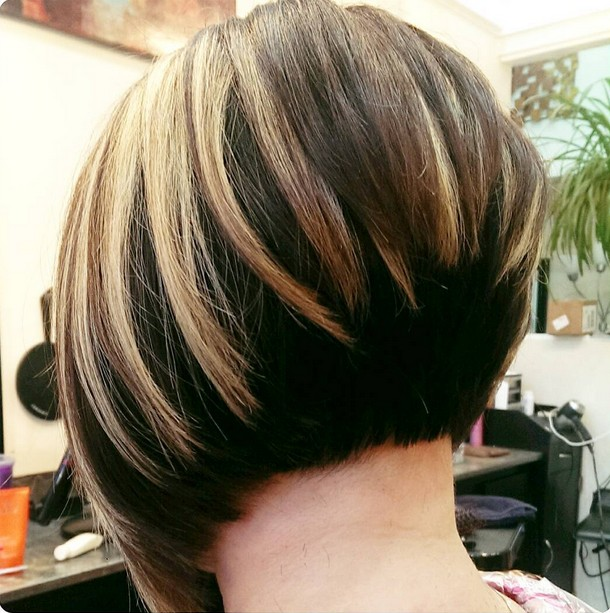 21. Inverted Bob Hairstyles With Dark Stacked Back
