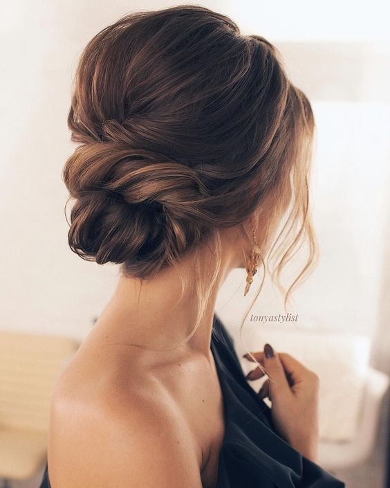 23. Trendy and Chic Updos for Medium Length Hair
