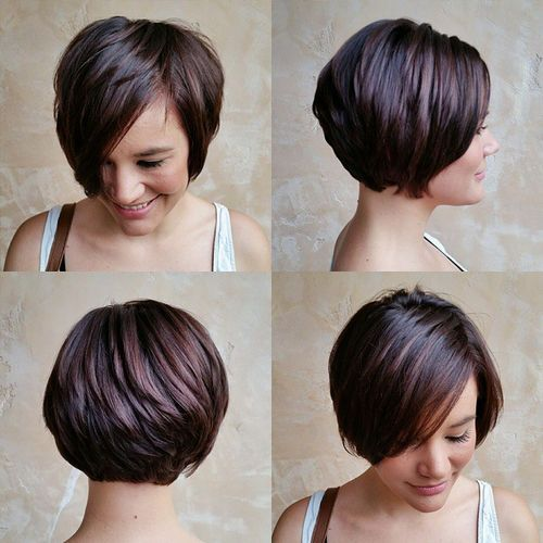 5. Long pixie bob for thick hair