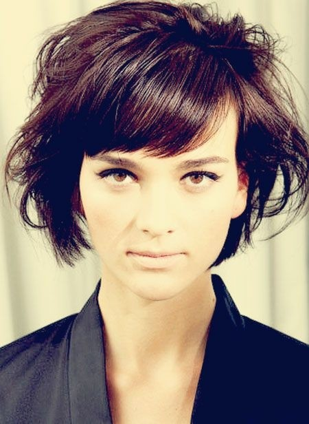 7. Messy Short Hairstyles for Side Bangs