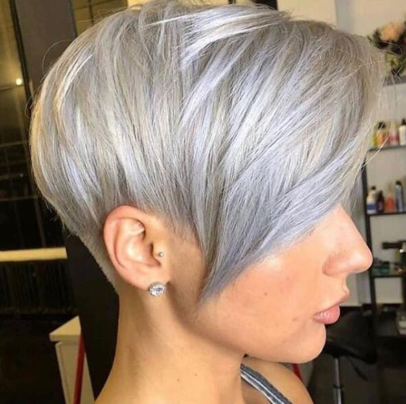 7. Cool Pixie Cut and Color