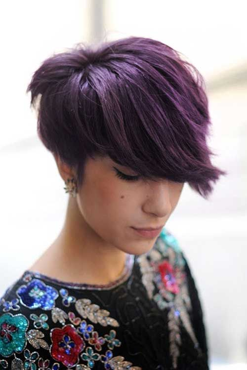 #7. short red violet hair