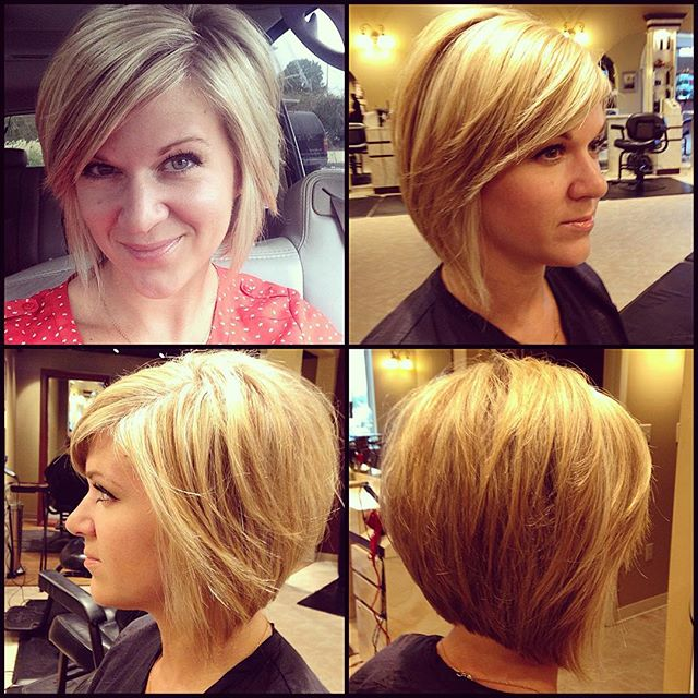 9. Layered Bob Hairstyle With Long Sides