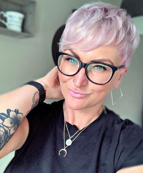 13. Pink Pixie with Glasses