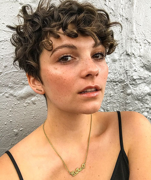 13. Short Curly Pixie Haircut