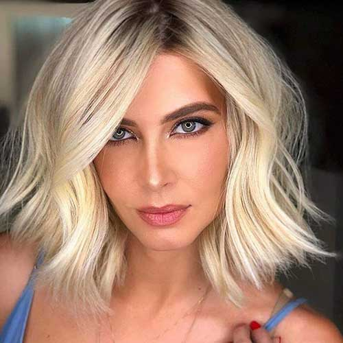 16. Long Bob Blonde Hairstyle