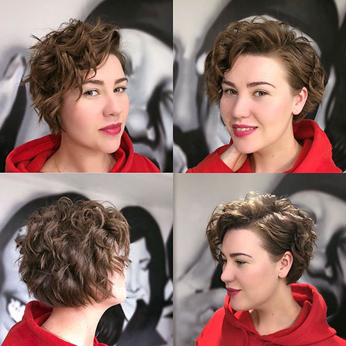 18. Curly Pixie Cut