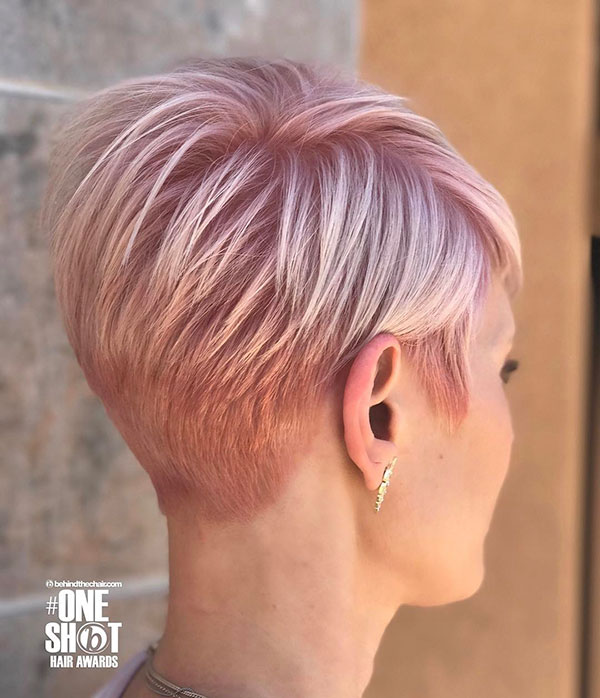 19. Back View of Pixie Cut