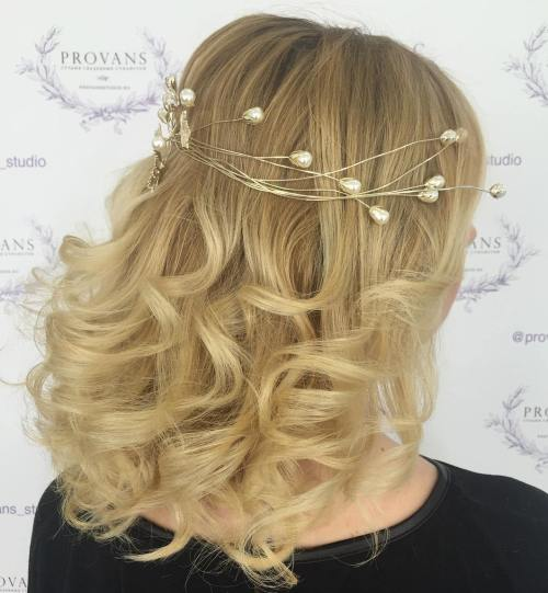 2. Wedding Curls with Accessory