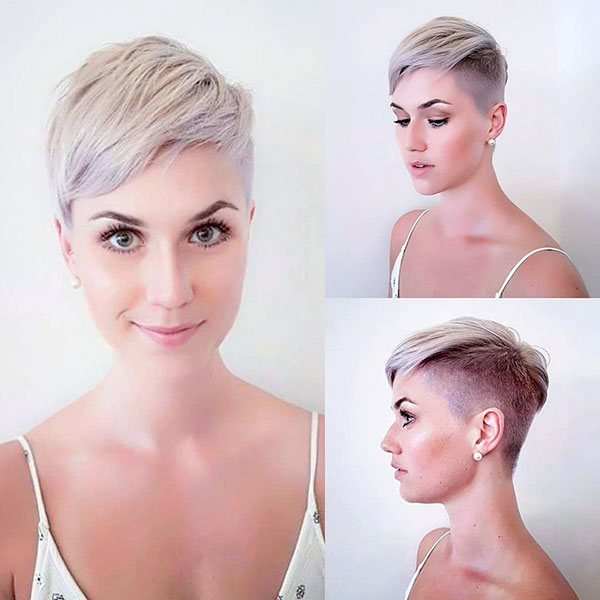 21. Blonde Pixie with Shaved Sides