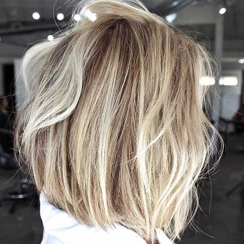 25. Blonde Balayage Short Bob Hair