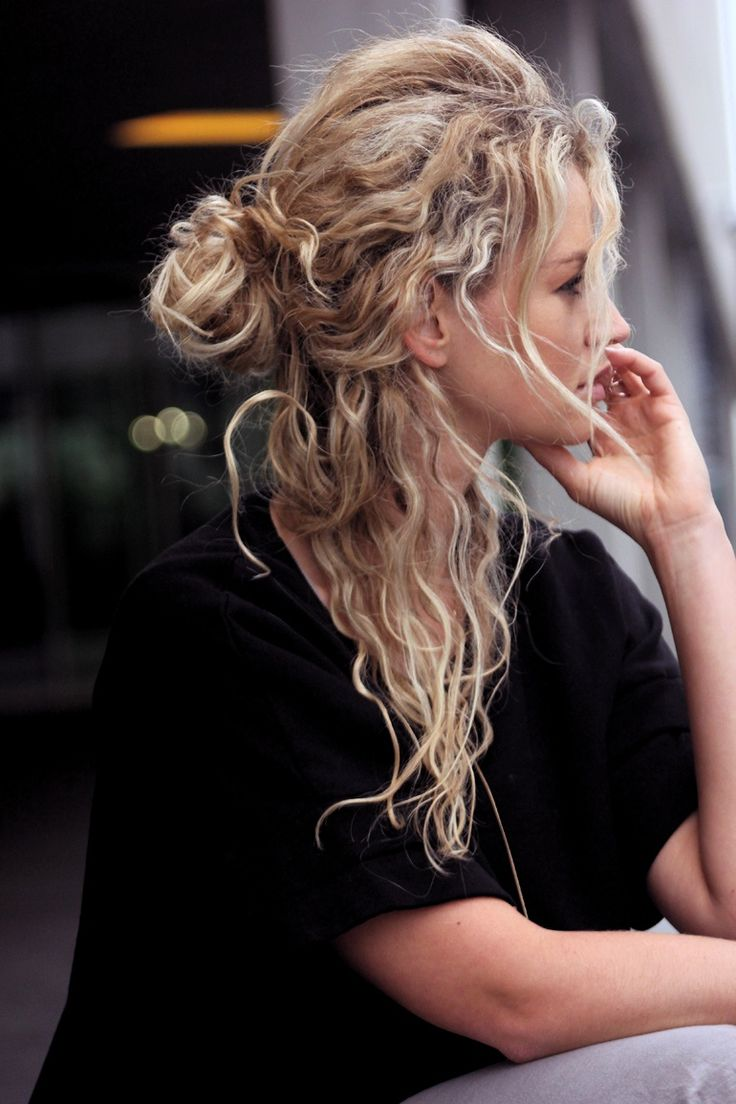 3. Half-Up Curly Hairstyle