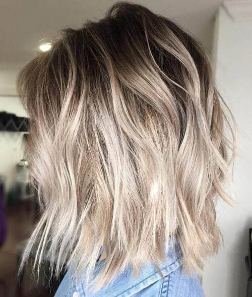 4. Cool Ashy Blonde Textured Lob