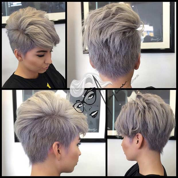 4. Pixie Cut For Thick Hair