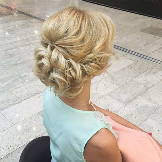 8. Blonde Twisted Updos