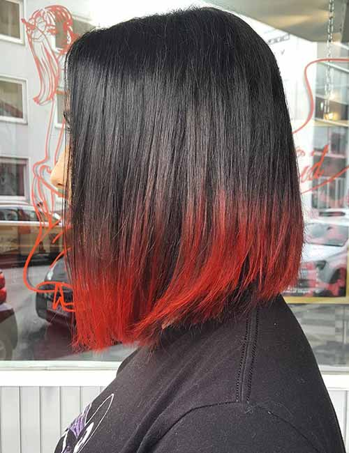 8. Red Edged Ombre