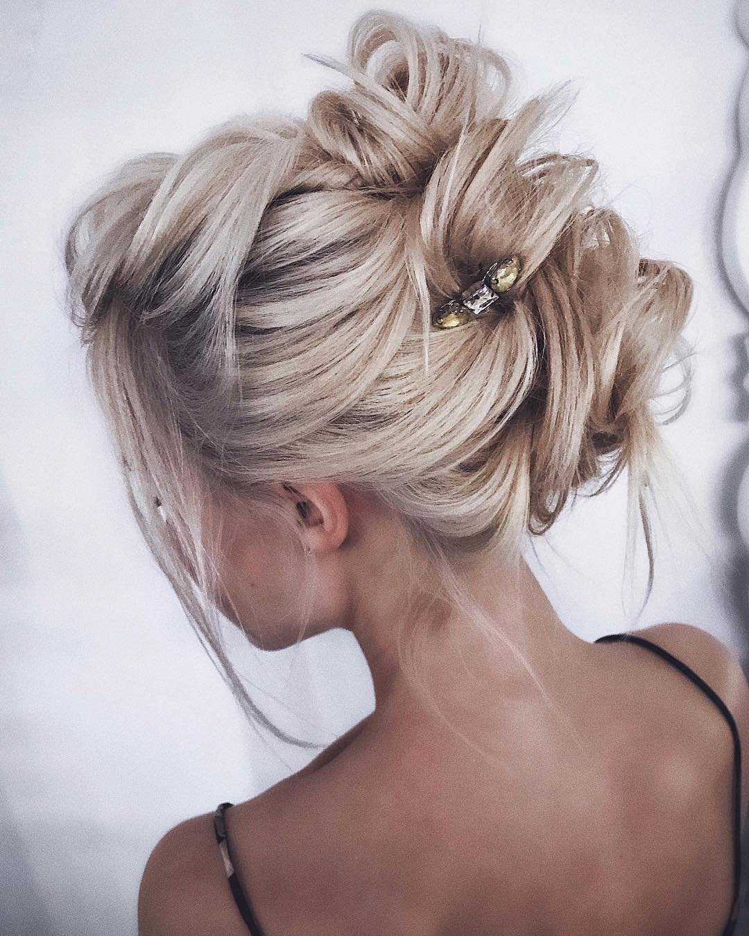 9. Clipped Updo