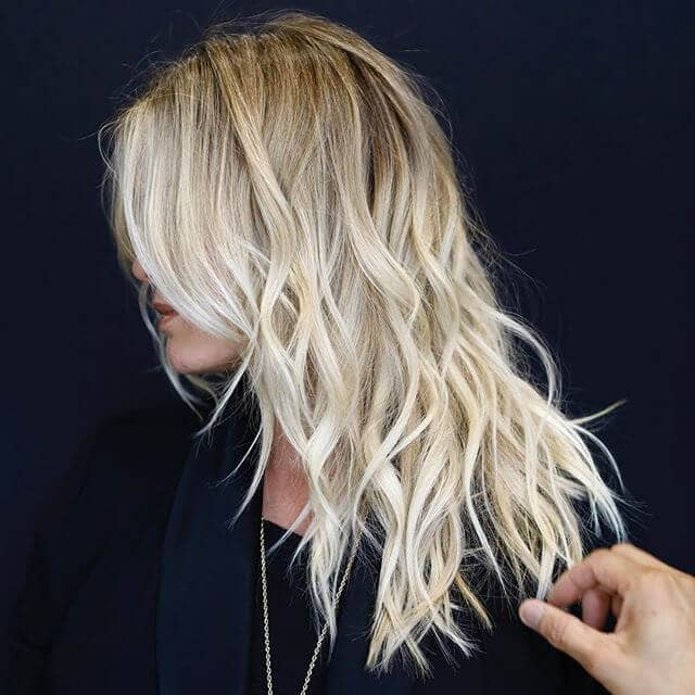 2. Chic Beachy Platinum Waves