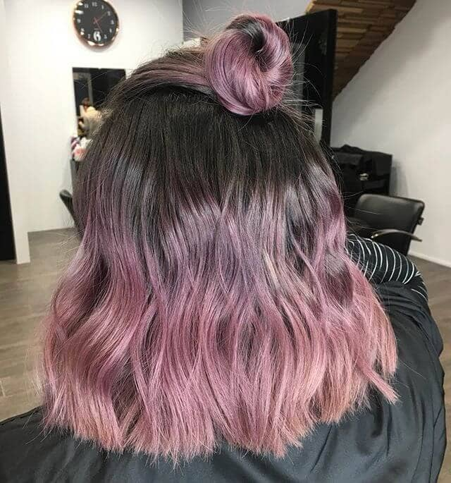 7. Pink Waves with Top Knot