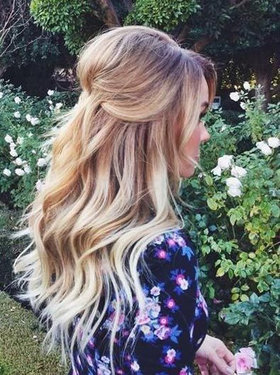 Half updos are type of hairstyle