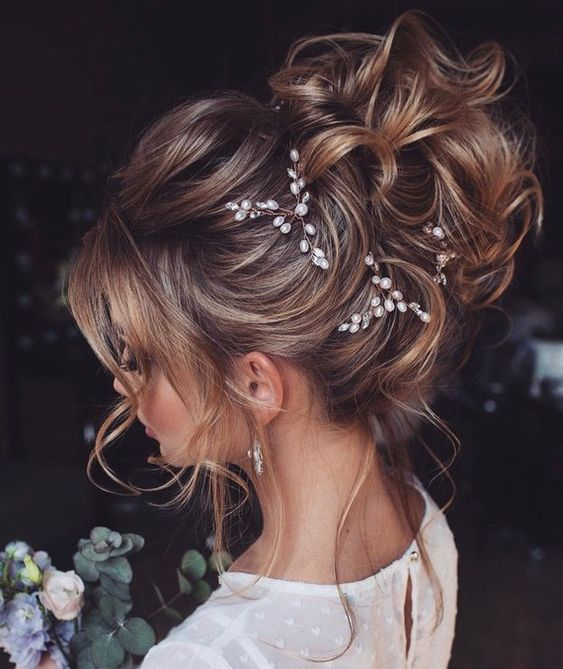 Bridal hair pins-Wedding hair