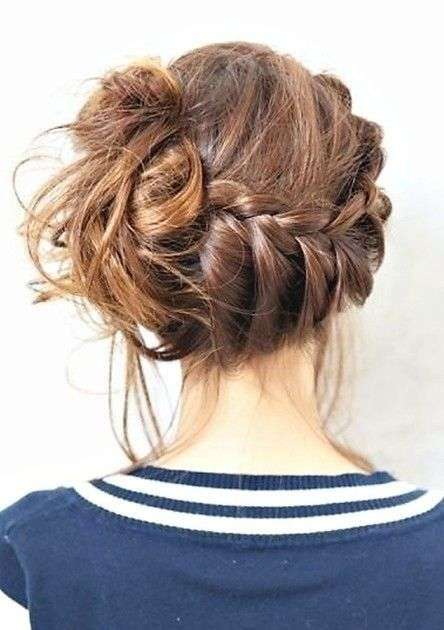 Chic Braided Updos Updo Hairstyles Ideas