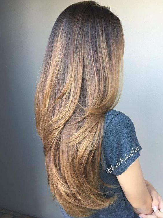 Cute Layered Hairstyles and Cuts for Long Hair 2018