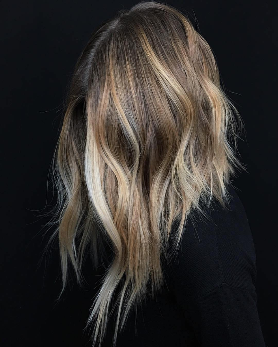 Light Brown Hair with Blonde and Beige Highlights
