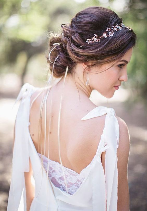 Low Updo Wedding Hairstyle