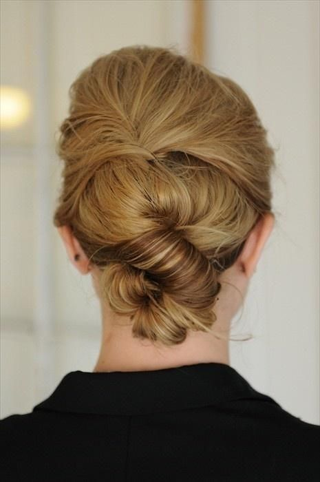 Simple Knot Updo Hairstyle