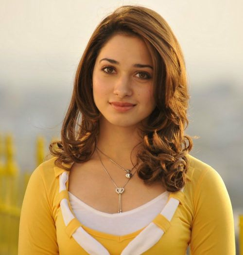 Tamanna with hairstyle for medium hair