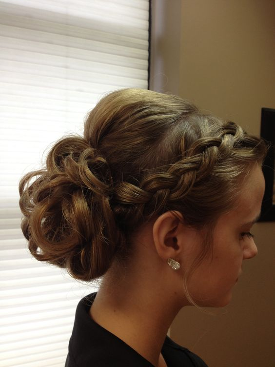 updo I did for guest (prom)