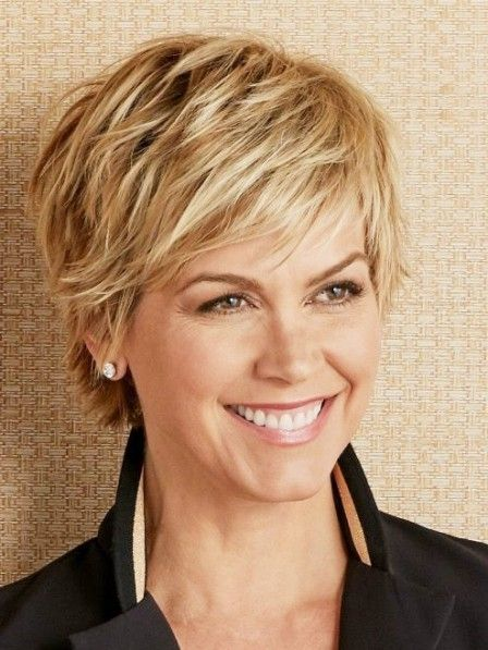 Cute Blonde Pixie Cut Ladies Wig