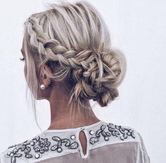 Gorgeous Updo Braided Hairstyles 2019