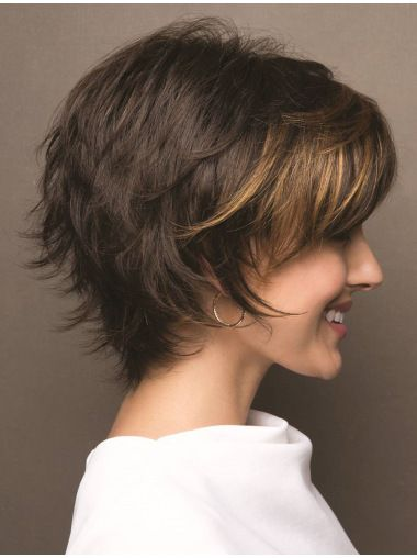 Synthetic Bobs Brown Wavy