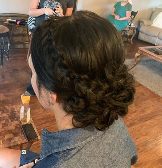 Braid + updo combos