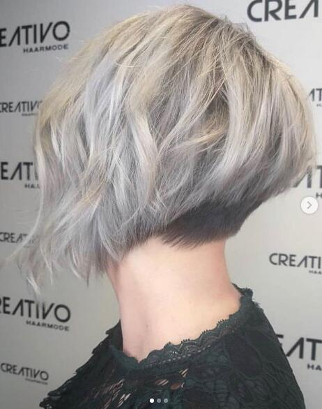 Dark rooted silver hair