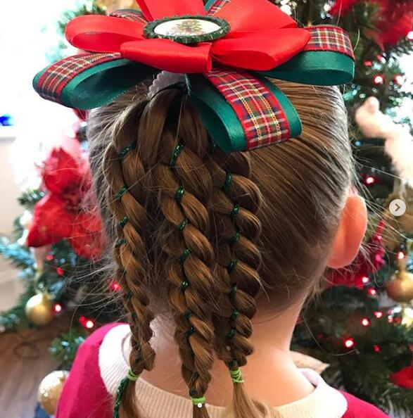 Christmas Eve hair!
