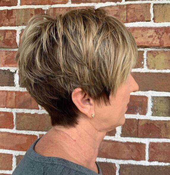Highlighted Pixie Cut
