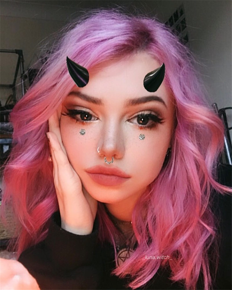 Cute Pink Hair Ideas for Spring 2020-01