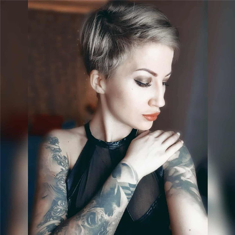 Popular Short Pixie Cut Hairstyles with Casual and Prom Looks-01