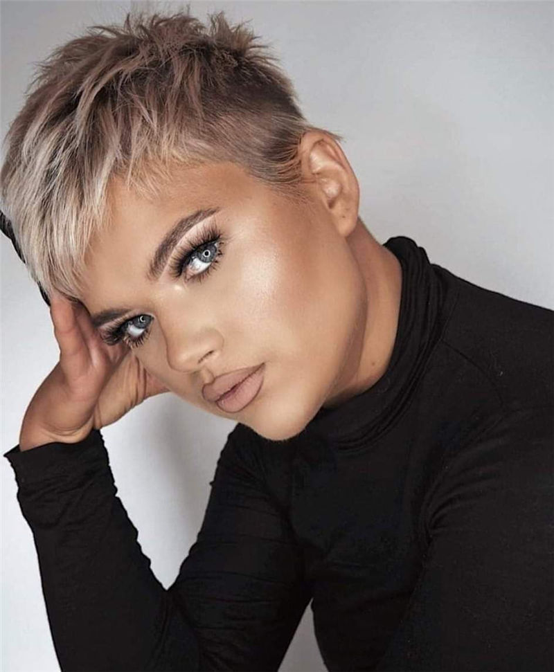 Popular Short Pixie Cut Hairstyles with Casual and Prom Looks-10